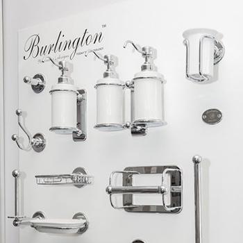 Range of Burlington bathroom accessories