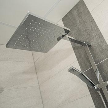 Square dual shower head