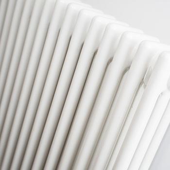 Close-up of white radiator
